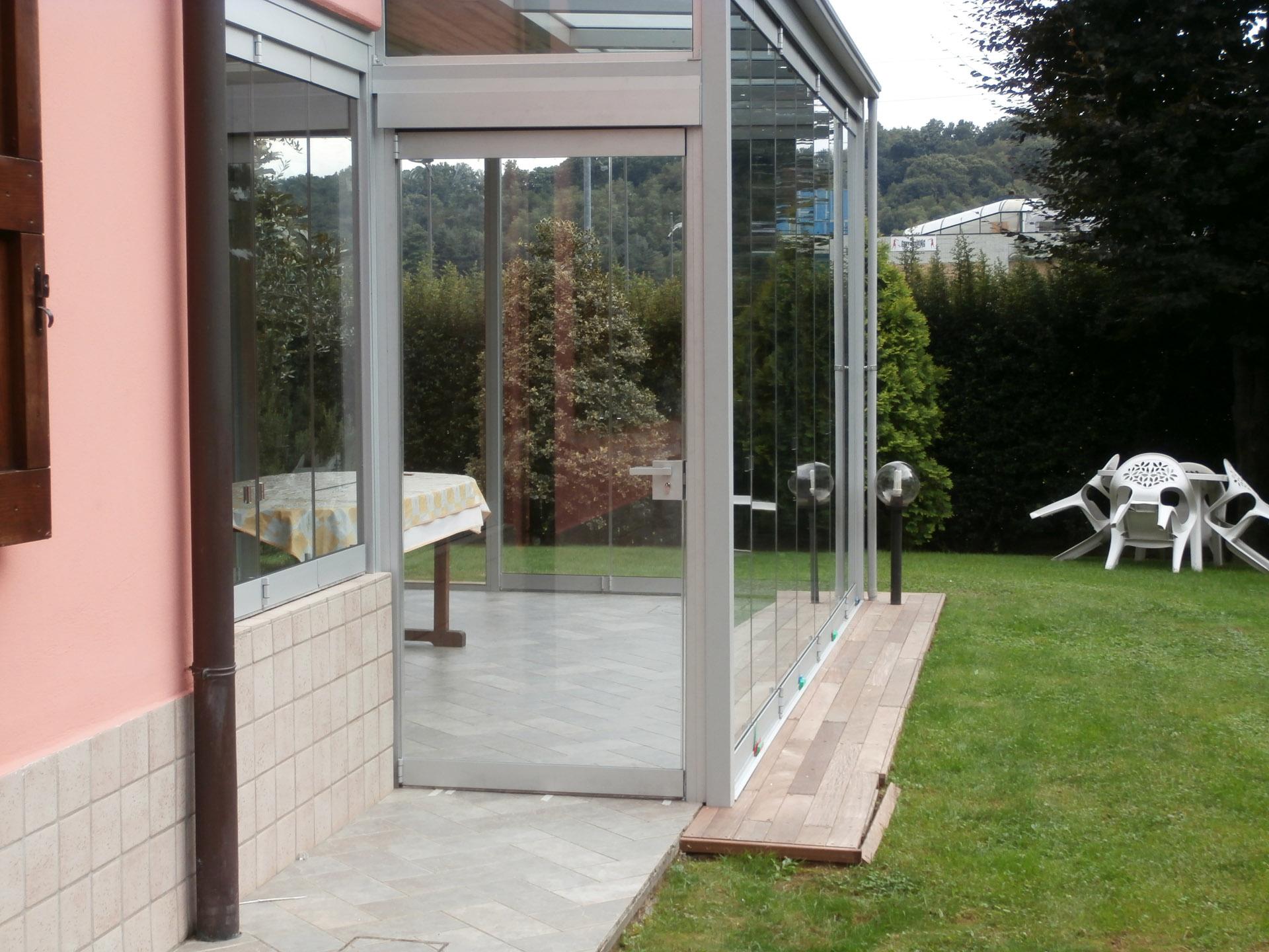 Serra bioclimatica in vetro