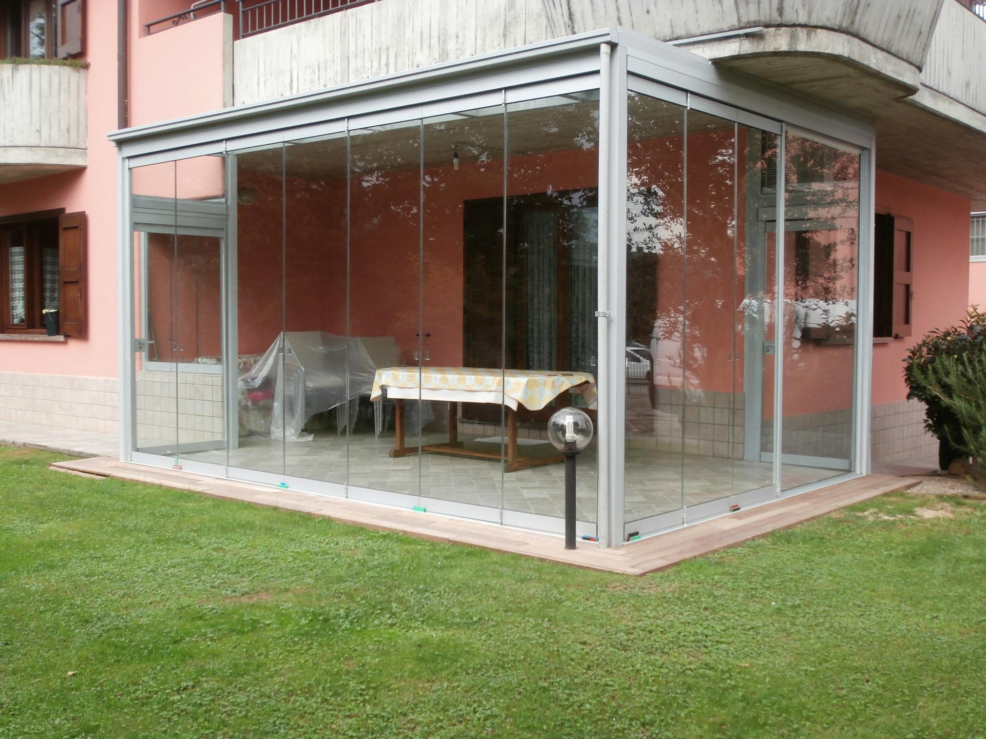 Serra bioclimatica realizzata da covea vetri